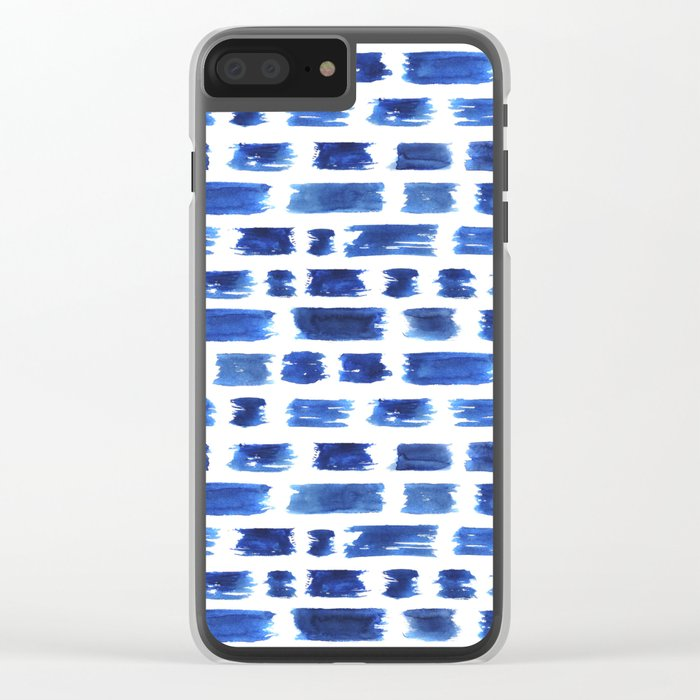 Ultramarine brushstrokes Clear iPhone Case