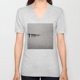 black and white untitled ocean Unisex V-Neck