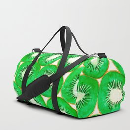 Watercolor kiwi slices pattern Duffle Bag