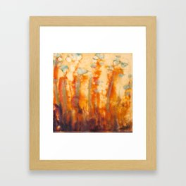 Fire Lillies Framed Art Print