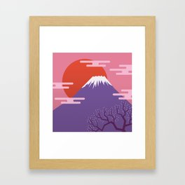 Mountain. Japan. Framed Art Print