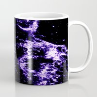 cosmic Mugs featuring COSMIC Electricity Purple by 2sweet4words Designs