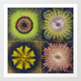 Methylator Structure Flowers  ID:16165-011604-36970 Art Print