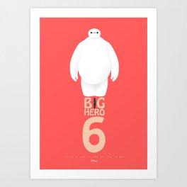 Big Hero 6 - minimal poster Art Print