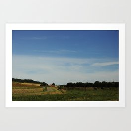 Southern French Country Side Art Print