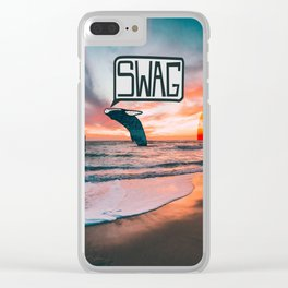 Swag Whale Clear iPhone Case