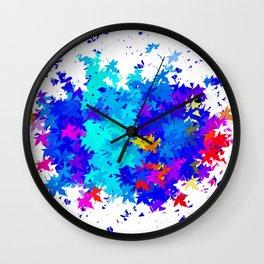 Leaves blobs Wall Clock