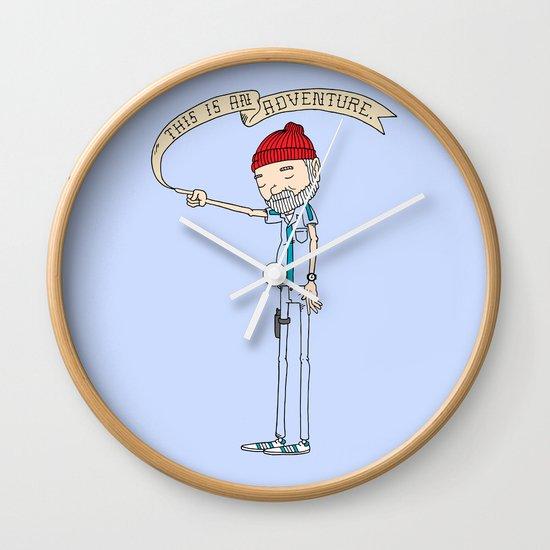 """""""THIS IS AN ADVENTURE."""" - Zissou Wall Clock"""