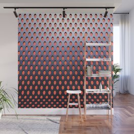 Elongated Holes4 Eager Plum Wall Mural