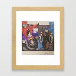Bizarro Vs. Solomon Grundy Framed Art Print