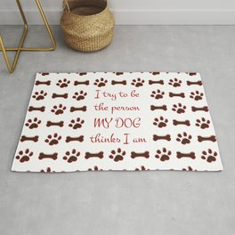 Dog Person Rug