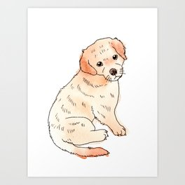Copper Puppy Art Print