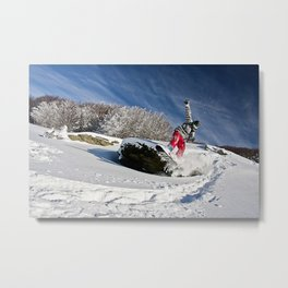 The Snowboarder Metal Print