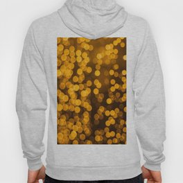 Gold Glitter Sparkle Bokeh Blurred Lights Shimmer Shiny Dots Spots Circles Out Of Focus Hoody