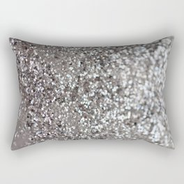 Sparkling SILVER Lady Glitter #1 #decor #art #society6 Rectangular Pillow