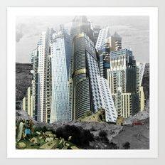 Turmbau zu Babel Art Print