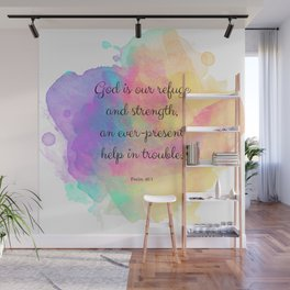 Psalm 46:1, God is our Refuge, Scripture Quote Wall Mural