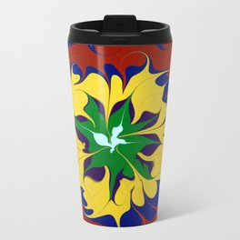 Dripping Color mandala Metal Travel Mug
