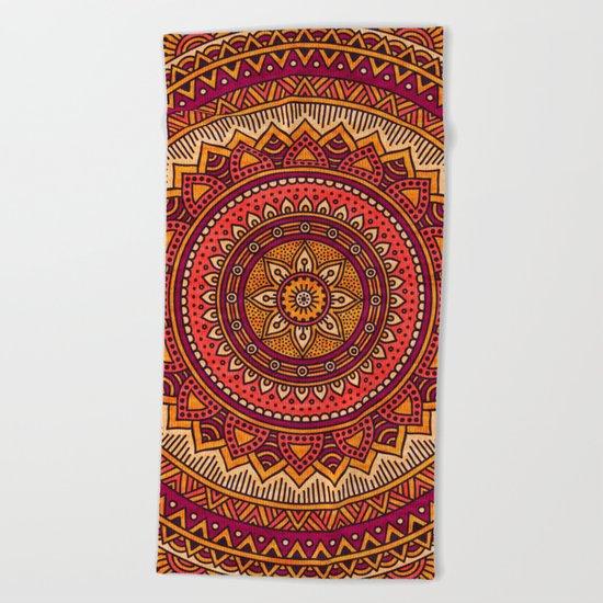 Hippie mandala 33 Beach Towel