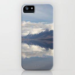 Image USA McDonald Lake, Glacier National Park, Montana state Nature mountain Lake landscape photography Clouds Mountains Scenery iPhone Case