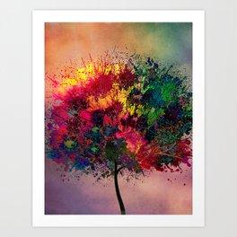 Love in Fall Art Print