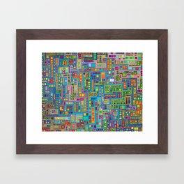 Tiled City Framed Art Print