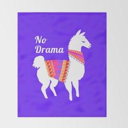 No Drama Llama Throw Blanket