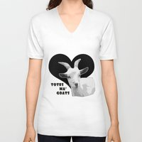 totes V-neck T-shirts featuring Totes Ma Goats - Black by BACK to THE ROOTS