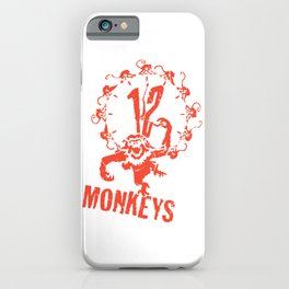 1 2 Monkeys Artwork Logo, Movies Designs For Prints, Posters, Tshirts, Bags, Men, Women, Kids iPhone Case