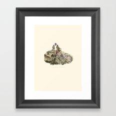 Lima. Bear and maiden. Framed Art Print