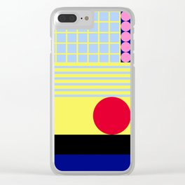Let's live bright! Clear iPhone Case