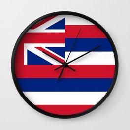 Hawaiian Flag, Official color & scale Wall Clock