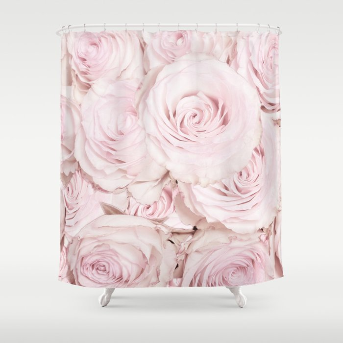 Roses Have Thorns   Floral Flower Pink Rose Flowers Shower Curtain