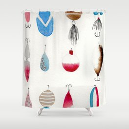 THE HOOKS Shower Curtain
