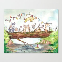 Monster Parade Canvas Print
