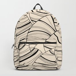 Abstract Black Lines Vector Pattern  Backpack