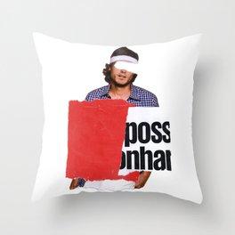 Advertising lies, but sell 10 Throw Pillow