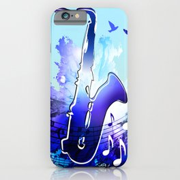 Saxophone music instruments design  iPhone Case