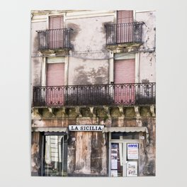 SICILIAN FACADE Poster