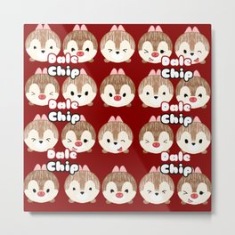Chip And Dale Pattern Metal Print