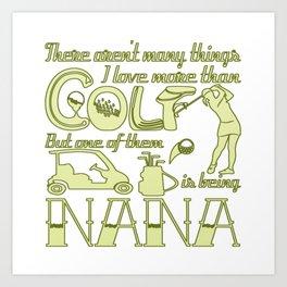 Golf Nana Art Print