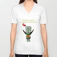 dark souls V-neck T-shirts featuring Dark souls by Kapika Arts