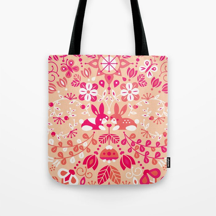 Bunny Lovers – Pink Palette Tote Bag