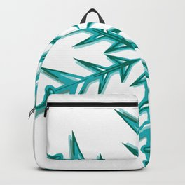 Minimalistic Aquamarine Snowflake Backpack