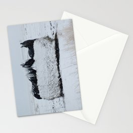 A horses snow day Stationery Cards