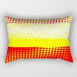 Red Yellow Stripe Pattern Design Rectangular Pillow