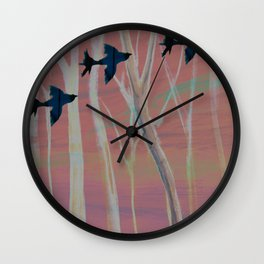 Birds flying high Wall Clock
