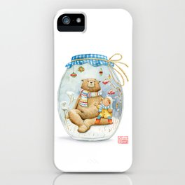 Forest stories. It´s snowing! n.11 iPhone Case