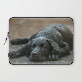 Labrador dog in the rain ! Laptop Sleeve