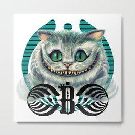bassnectarChashire cat Metal Print